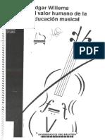 El valor humano de la educación musical - Edgar Willems.pdf