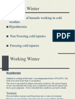 Working in Winter and Its Hazards