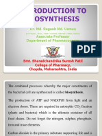Introduction to Biosynthesis