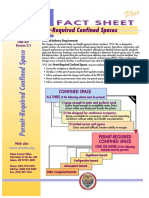 OSHA Fact Sheet on Confined Space Procedures