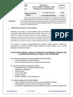 Protocolo Acoso Laboral Entre Personal Del Establecimiento