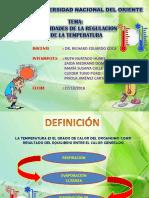 Diapositiva Necesidades de La La Regulacion de La Temperatura