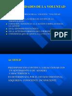 ANORMALIDADES DE LA VOLUNTAD, CONCIENCIA y CONCIENCIA DEL YO.ppt