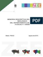 Medio Fisico - Memoria Descriptiva Geologia