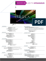 Tesla TV Series 6 49S606SUS Specifications ENG
