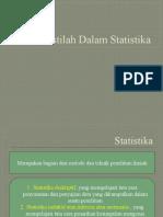 Istilah-Istilah Dalam Statistika