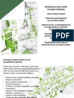 Presentación de Infraestructuras Verdes en un ecosistema urbano.