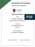OSTL Report Format