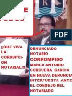 Primera Denuncia contra  el Notario delincuente Marco Antonio Corcuera Garcia dirigida al Ministro de Justicia