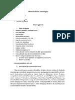 Historia Clinica - Toxicologia