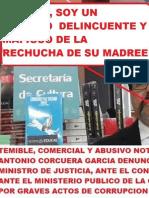 Amplian Denuncia Contra  Notario Delincuente Marco Corcuera Garcia