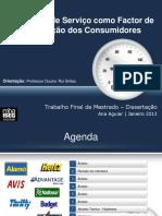 Qualidade Serv como factor de Fideli zação dos Consum 09.12.2012 (v1)
