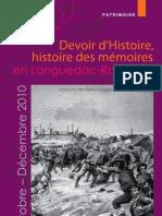 Devoir d Histoire Histoire Des Memoires - Programme
