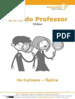 guia do professor video os curiosos optica