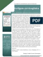 Cervicogenic Dizziness Vertigem Cervicogênica
