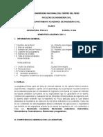 Syllabus fisica II 2011 - II