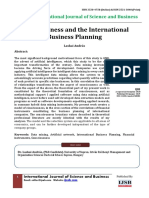 Consciousness and the International Business Planning