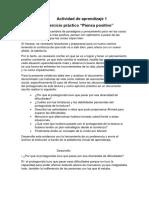 """Evidencia 6 Ejercicio Práctico """"Piensa Positivo"""""""