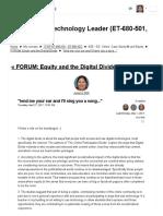 Equity Forum