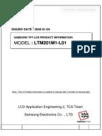 LTM201M1 L01 Samsung