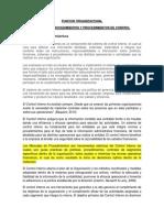 Funcion Organizacional Manual