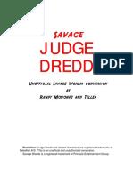 Savage Worlds - Judge Dredd
