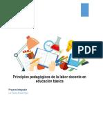 Principios Pedagógicos de La Labor Docente en Educación Básica