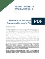 Agenda de Participacion 2019