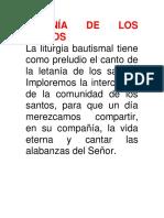 Letanía de Los Santos