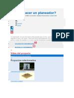 Cómo Hacer Un Planeador