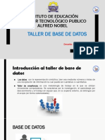 Intrduccion Al Taller de Base de Datos