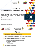 1. Plan Sectorial de Educacion