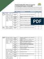 Matriz 5º Grado - Lectura Proceso-2018