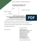 U.S. v. Lambert (Motion to Compel)