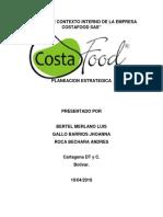 Analisis de Contexto Interno de La Empresa Costafood Sas