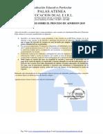 2.Disposiciones Proceso Admision 2019
