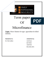 Micro Finance for agro, agriculture & allied industry