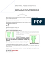 Presion Hidrostatica Presion Atmosferica