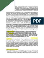 Psicología de la SaludCONCEPCION YCONCEPTOS LISTO 1