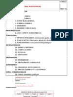 Preparacion de Fichas Toxicologicas