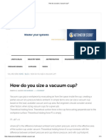 How Do You Size a Vacuum Cup