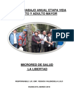 Plan de Trabajo 2018 Adulto Mayor Microred La Libertad