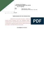 MFLO - Memorandum for the Prosecution