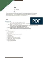 audrey potts resume  assignment