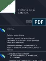 Historia de la Estética. Presentación PP.