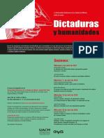 Cartel de dictaduras y humanidades