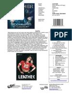 Promosheet LEATHER Shock Waves 30 Years Heavy LP