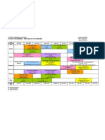 Eng Timetable (Year 1)