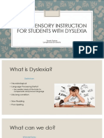 multi-sensory instruction for students with dyslexia