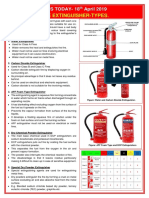 18.04.2019 Type of Fire Extinguisher